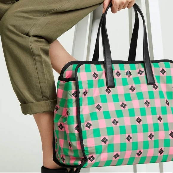 kate spade Handbags - Kate Spade Morley Large tote bright pink green